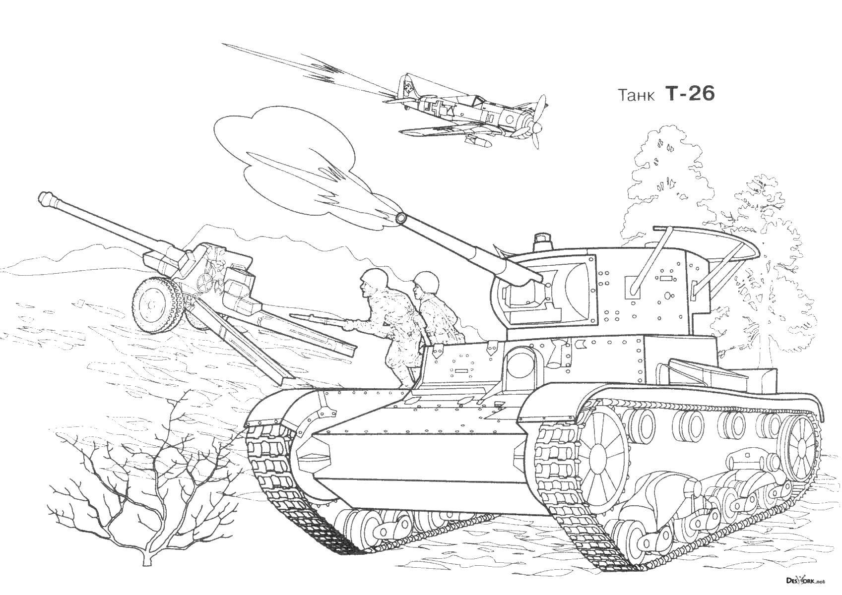 раскраски танк раскраска танк т 26 военные раскраски