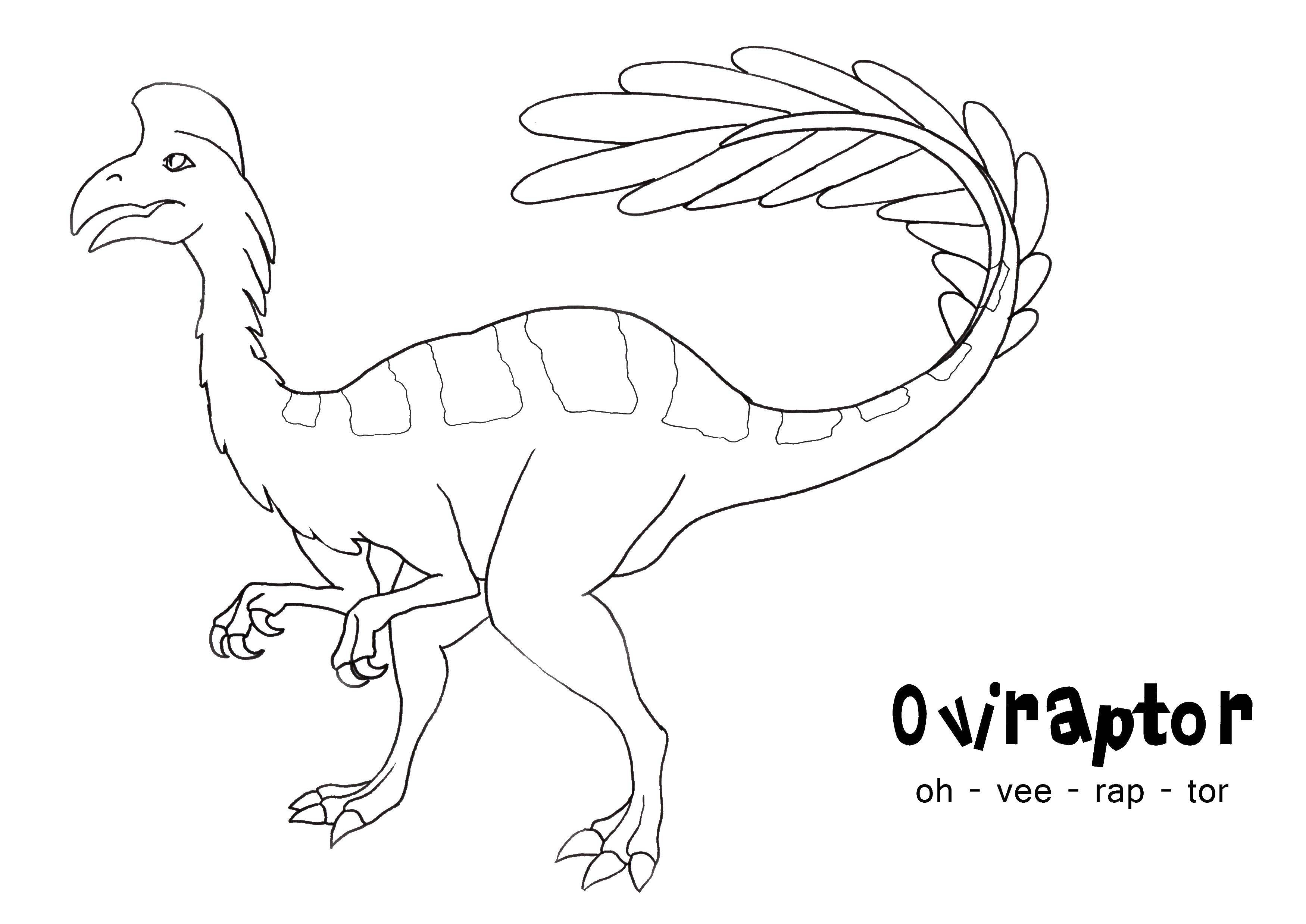 Раскраска Динозавр овираптор Скачать динозавры, овираптор.  Распечатать ,динозавр,