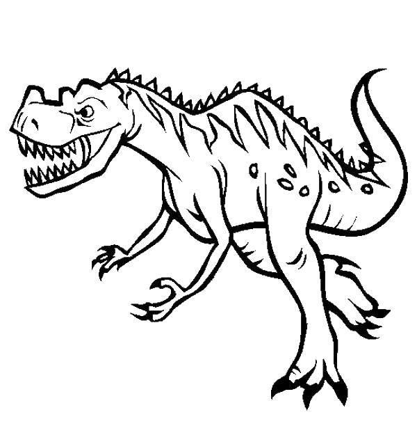 Раскраска динозавр Скачать Образец, обвести по контуру, точки.  Распечатать ,дорисуй по образцу,
