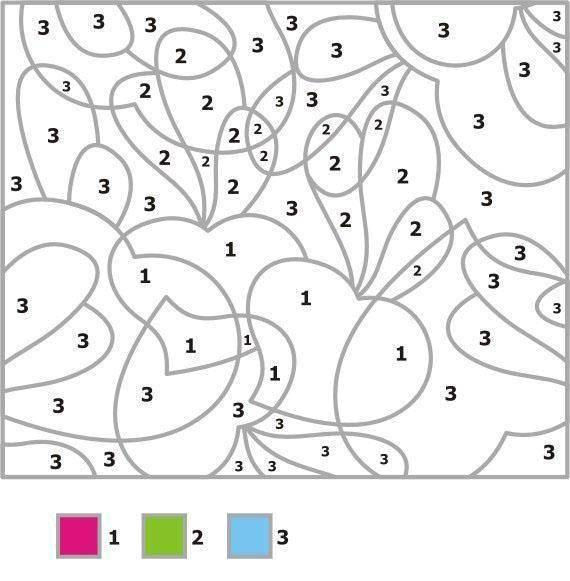 Раскраска Раскрась фигуры по номерам Скачать фигуры, узоры, номера.  Распечатать ,раскраски по номерам,