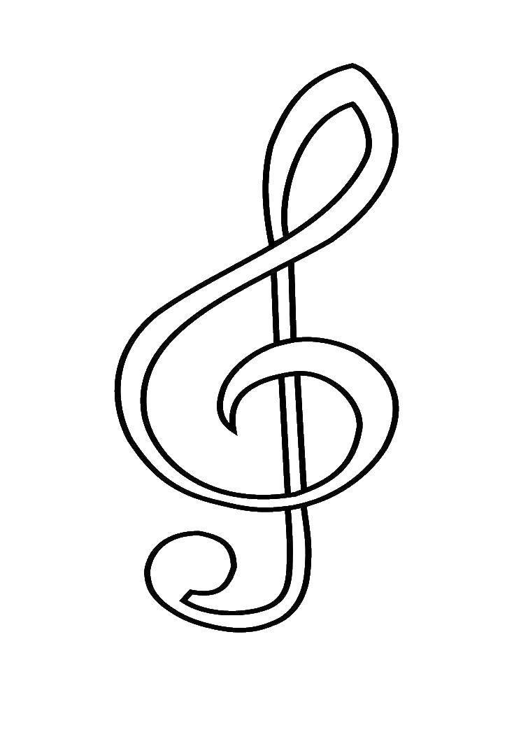 раскраски раскраска скрипичный ключ музыка скачать