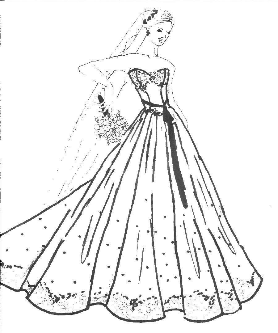 Раскраска свадебные платья Скачать ,Октонавты, мультфильм,.  Распечатать