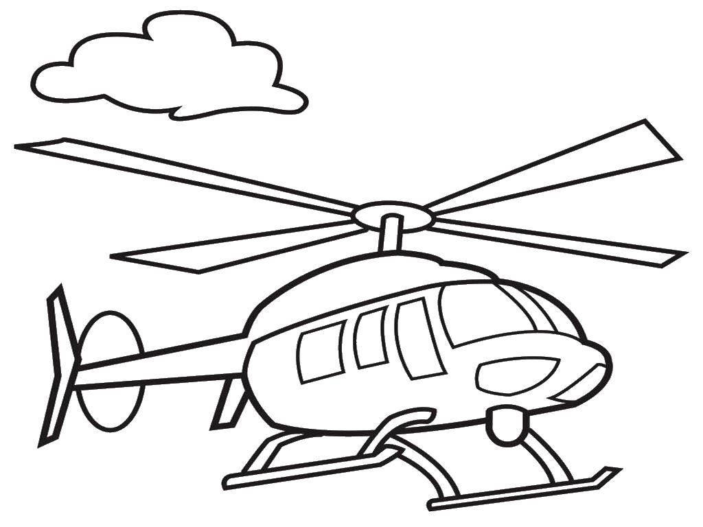 Раскраска Вертолеты Скачать ,облака, вертолеты,.  Распечатать