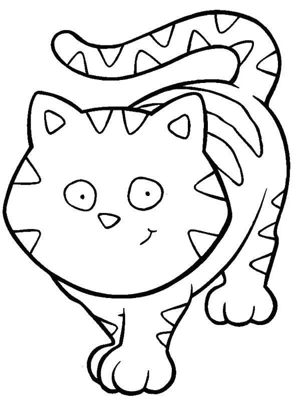 Раскраска Коты и котята Скачать сладости, шопкинс, яблоко.  Распечатать ,Еда,