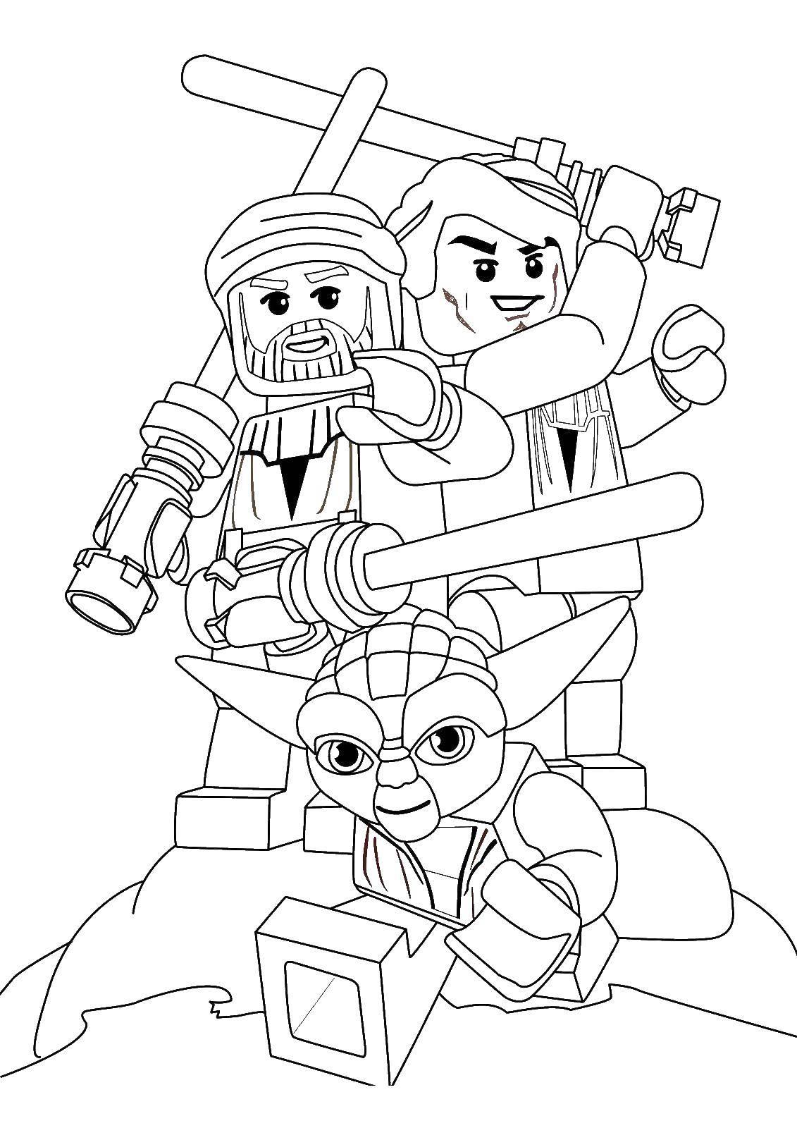 Раскраска Лего Скачать ,Персонаж из мультфильма,.  Распечатать