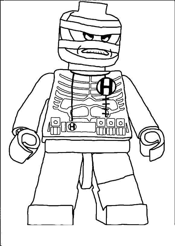 Раскраска Лего злодей Скачать лего, злодей.  Распечатать ,Лего,