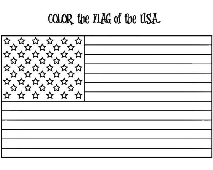 Раскраска Цвета флага америки Скачать флаг, Америка, звезды.  Распечатать ,США,
