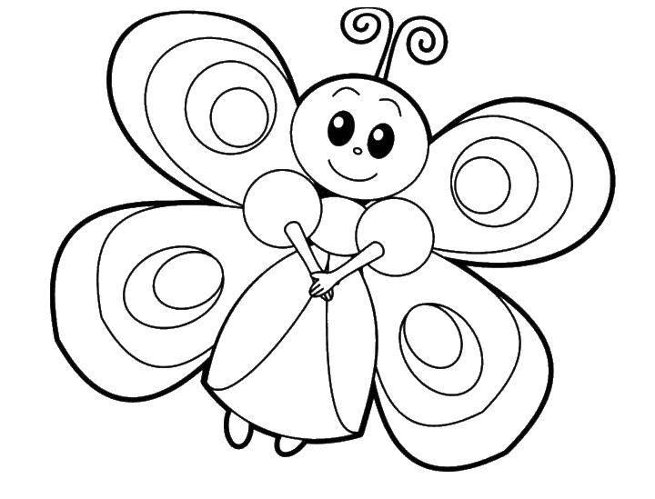 Раскраска бабочки Скачать микки, цветы, сердечки.  Распечатать ,День святого валентина,