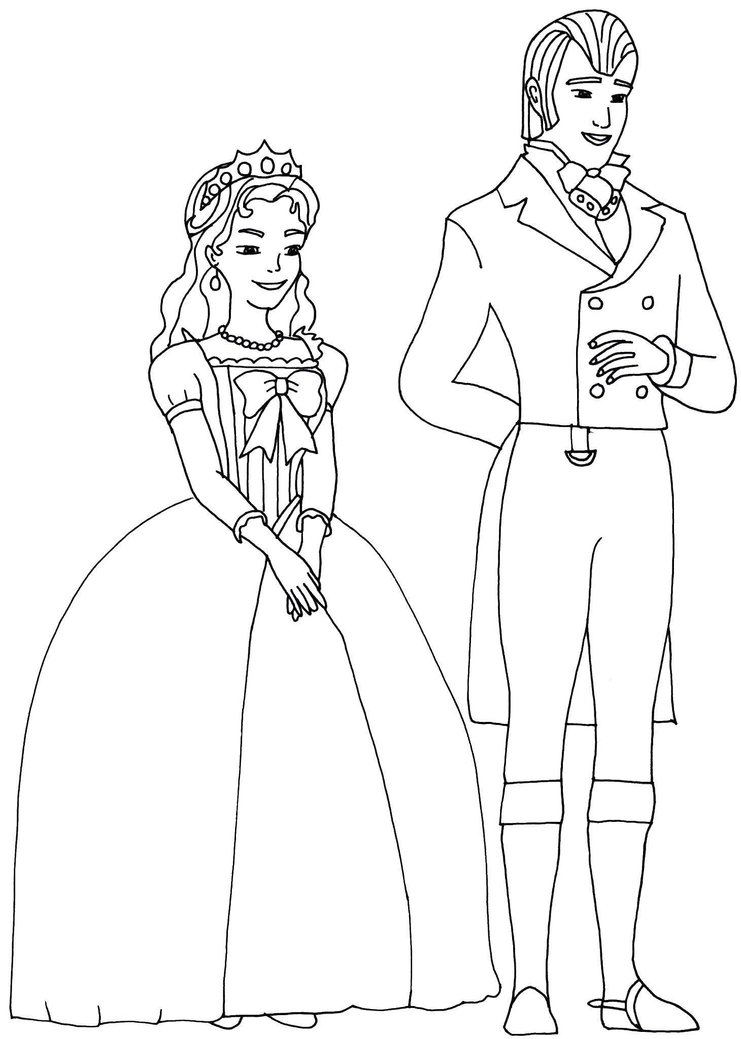 Раскраска Родители принцессы софий Скачать принцесса софия, родители.  Распечатать ,принцесса софия,