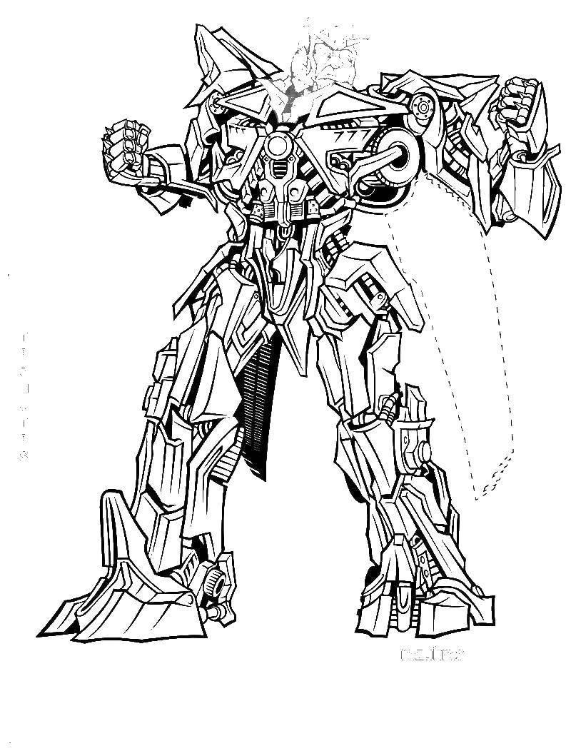 Раскраска Большой трансформер Скачать трансформер, робот, роботы.  Распечатать ,трансформеры,