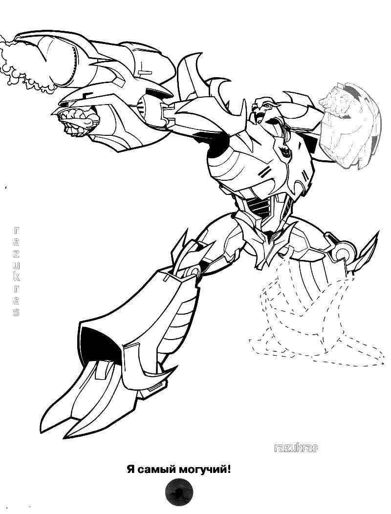 Раскраска трансформеры Скачать Зелёный Фонарь, супергерои.  Распечатать ,супергерои,