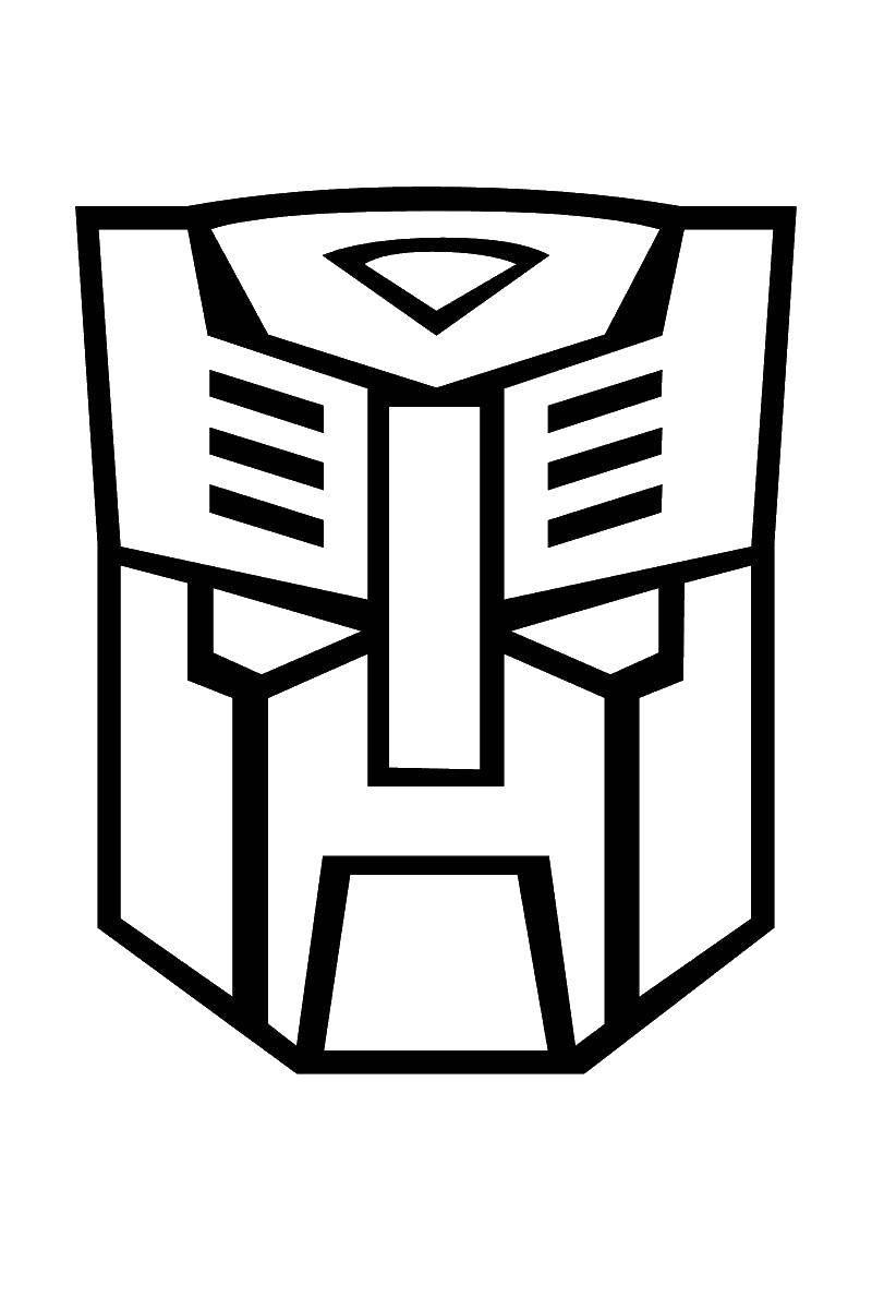 Название: Раскраска Знак автоботов. Категория: трансформеры. Теги: автоботы, десептикон.