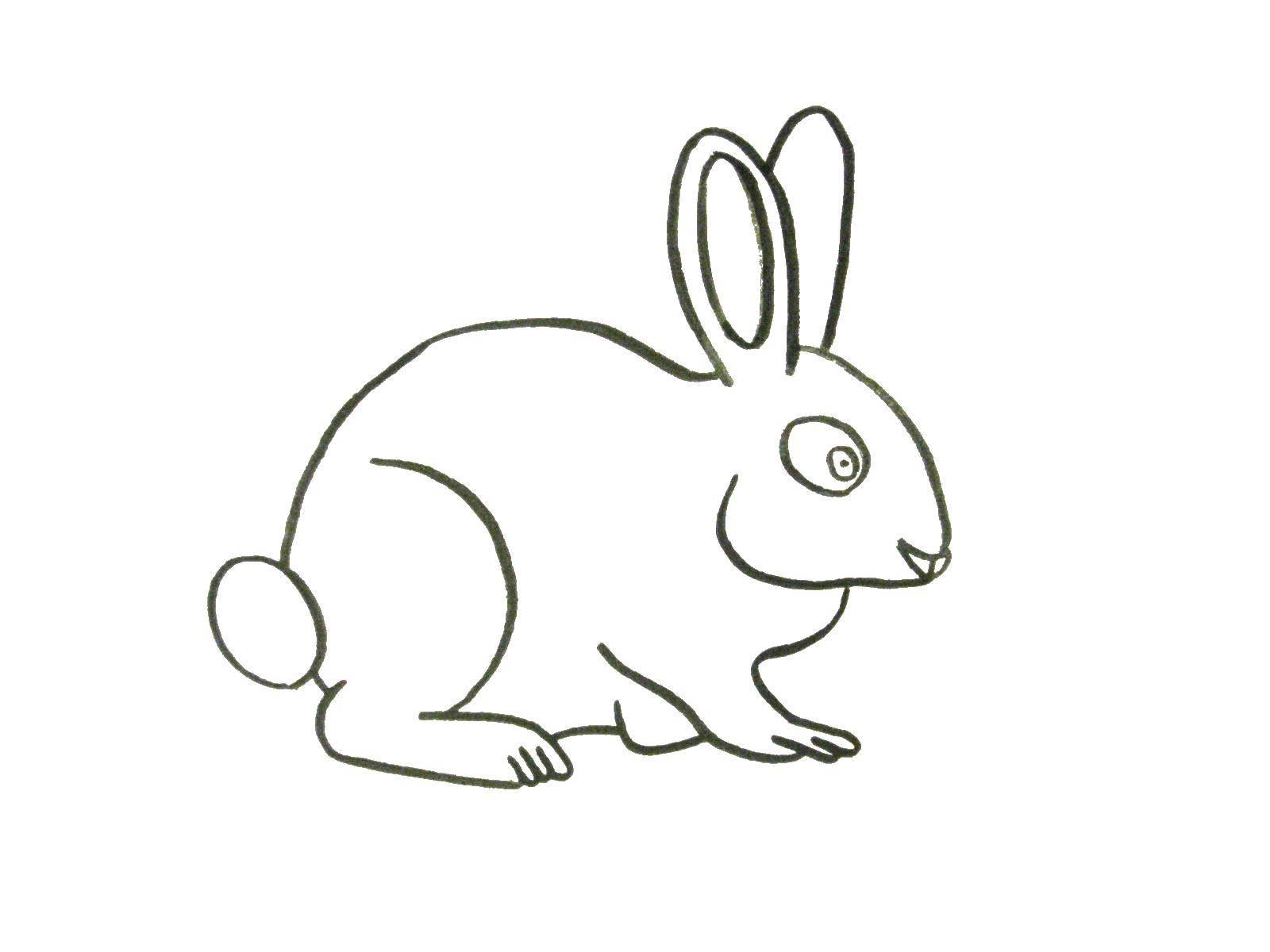 Раскраска Контур зайца для вырезания Скачать радуга, солнце.  Распечатать ,погода,