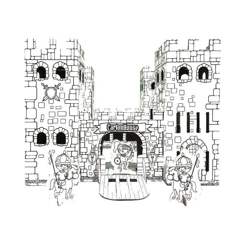 раскраски раскраска крепость и рыцари раскраски