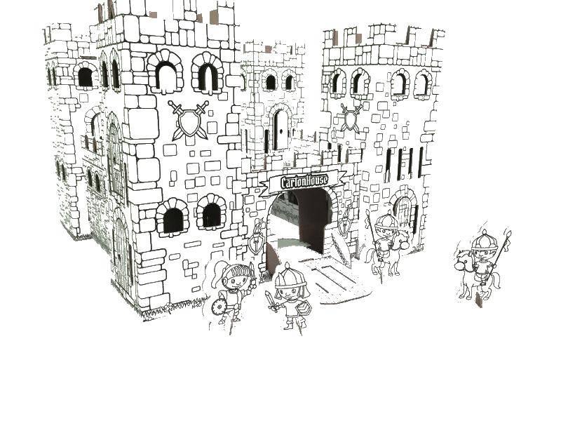 раскраски рыцаря раскраска крепость с рыцарями крепость