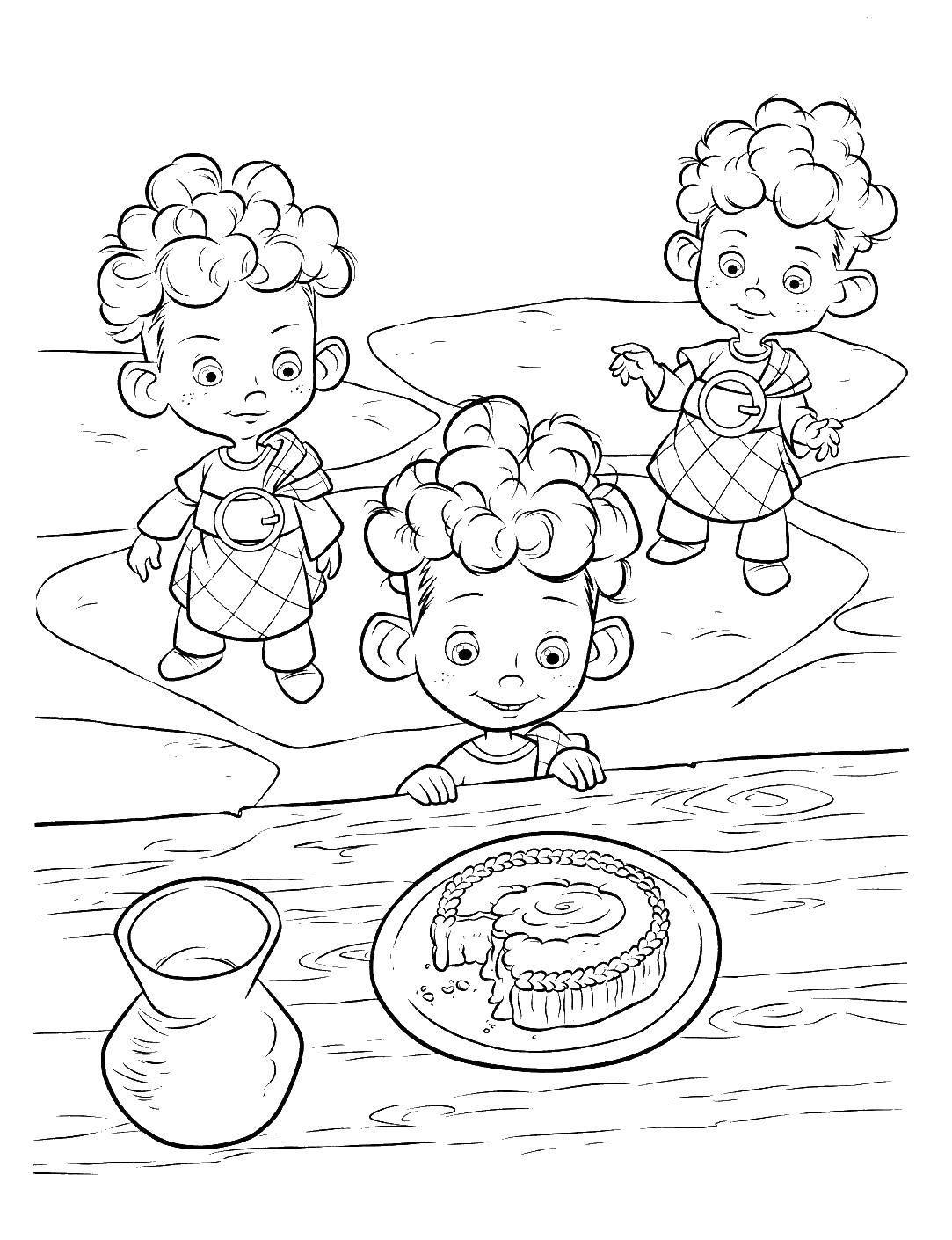Раскраска Братья принцессы Скачать Храбрая сердцем, братья, принцесса.  Распечатать ,храбрая сердцем,