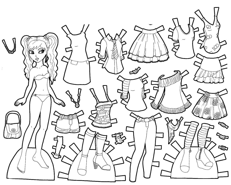 Раскраска Различная одежда для барби Скачать одежда, барби.  Распечатать ,Одежда,