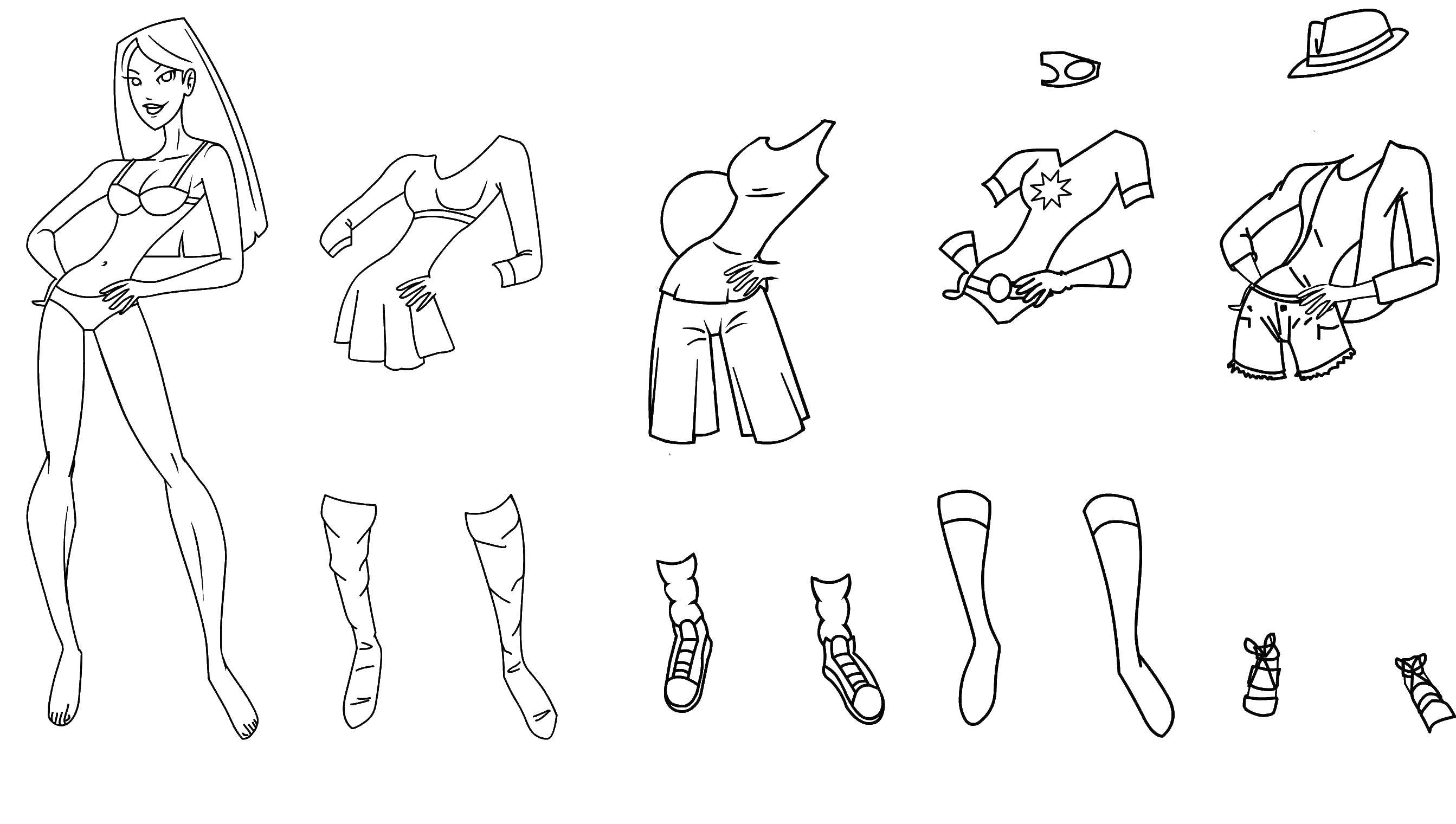 Раскраска Одежда Скачать Персонаж из мультфильма, Белоснежка, Гномы.  Распечатать ,Персонаж из мультфильма,