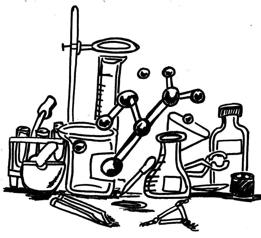 Раскраска Химические элементы Скачать химия.  Распечатать ,наука,