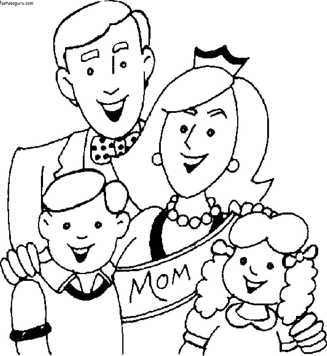 Раскраска Члены семьи Скачать ,тракторы, бульдозеры, спецтехника,.  Распечатать