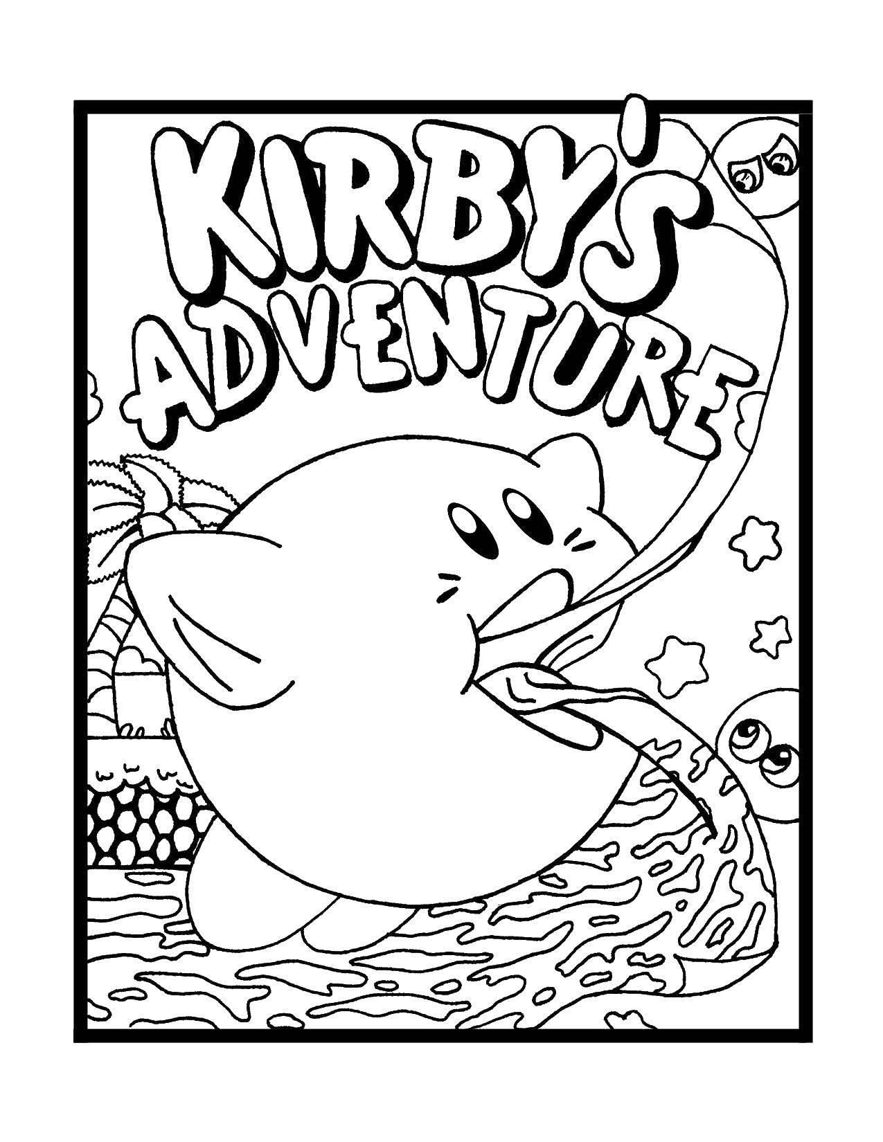 Раскраска Приключения кирби Скачать Кирби, мультфильмы, .  Распечатать ,Кирби,
