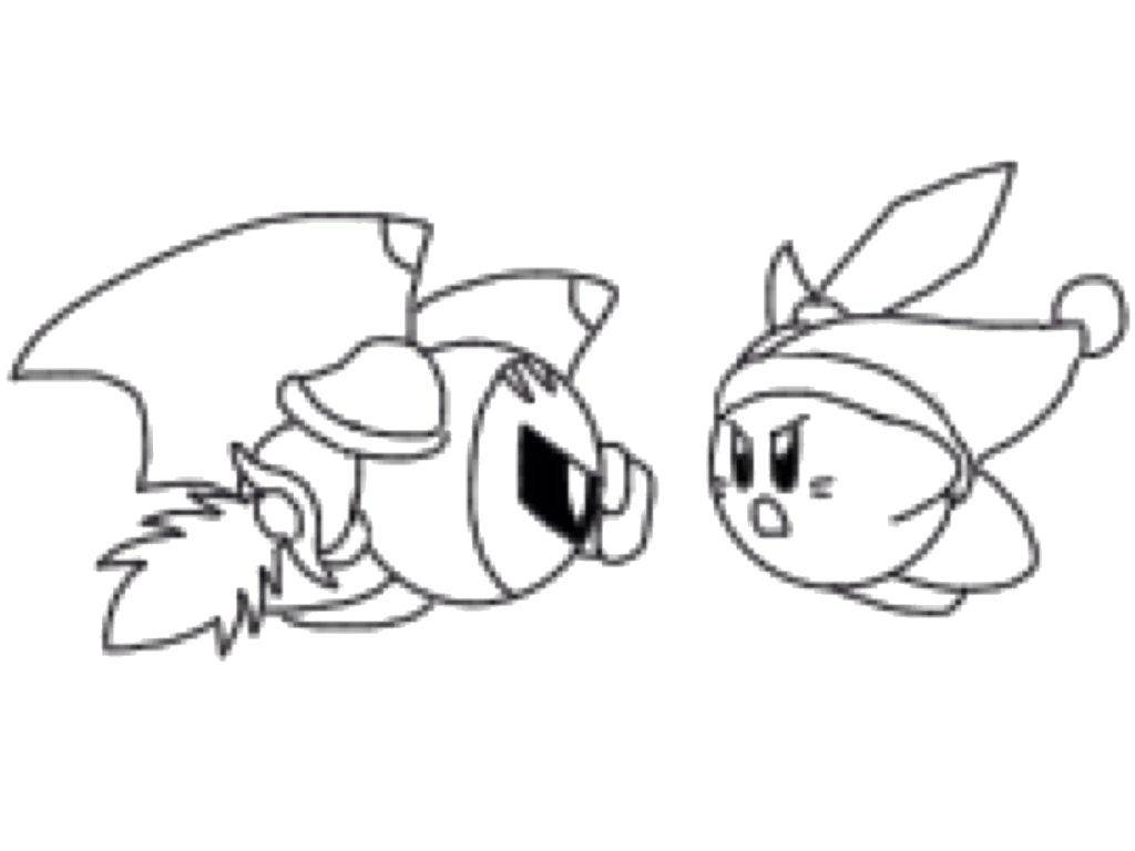 Раскраска Кирби в сражении Скачать Кирби, мультфильмы.  Распечатать ,Кирби,