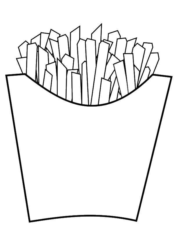 раскраски жаренная раскраска жаренная картошка фри еда
