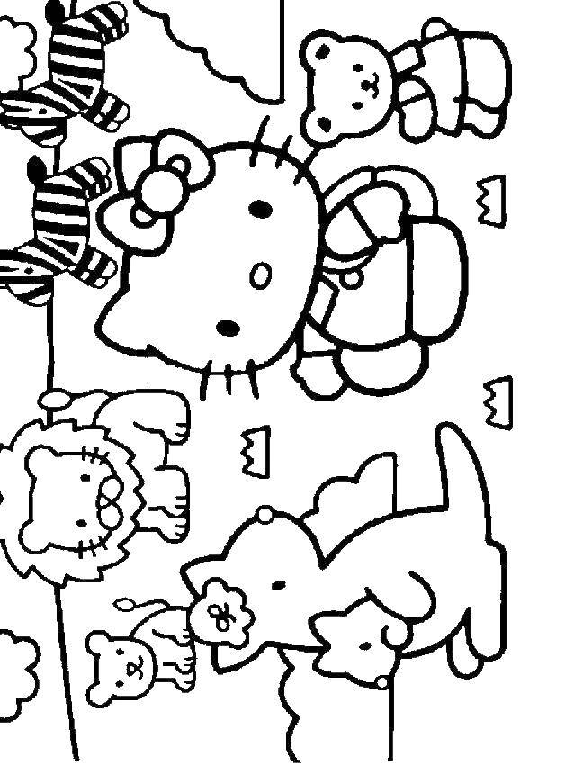 Coloring sheet Hello Kitty Download .  Print