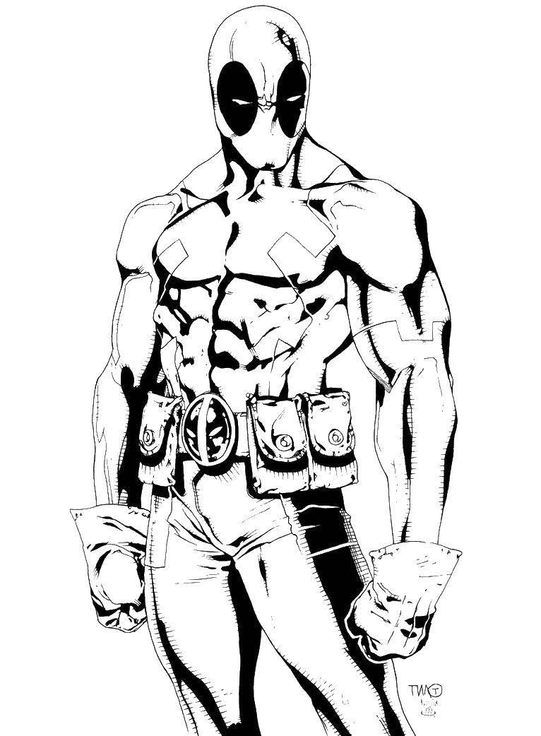 Раскраски Человек Паук, Раскраска Дэдпул и человек паук ...