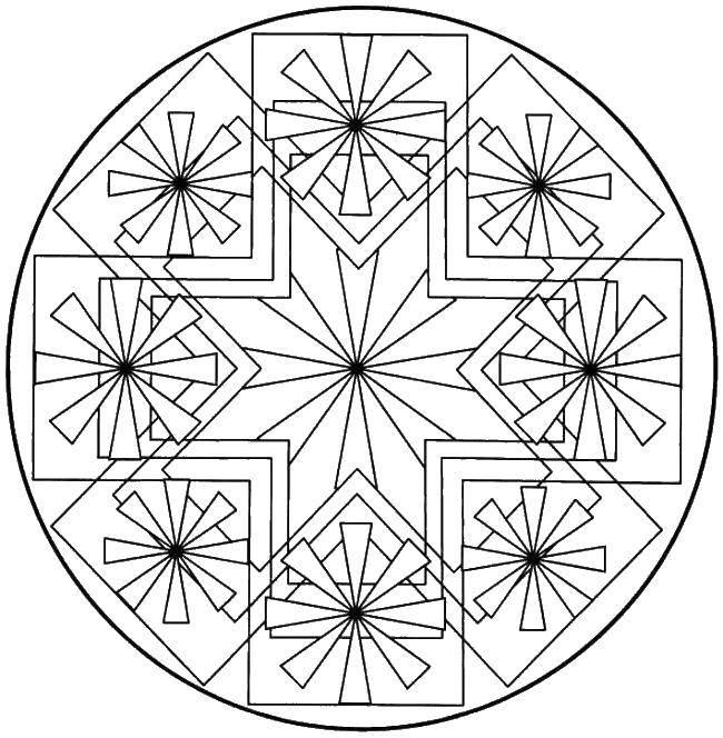 Раскраски Раскраска Разные узоры цветов Узоры с цветами ...