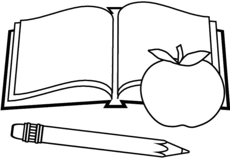 Раскраска книга Скачать ,книга,.  Распечатать