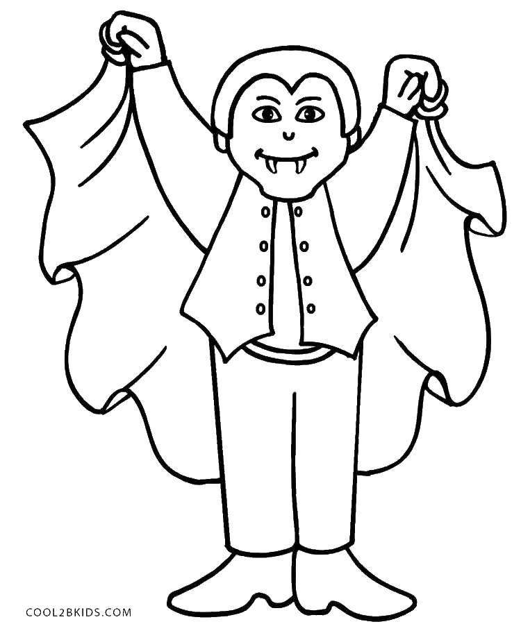 Вампиры раскраска детская