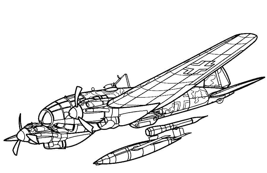 Coloring We launch rockets Download Plane.  Print ,coloring,