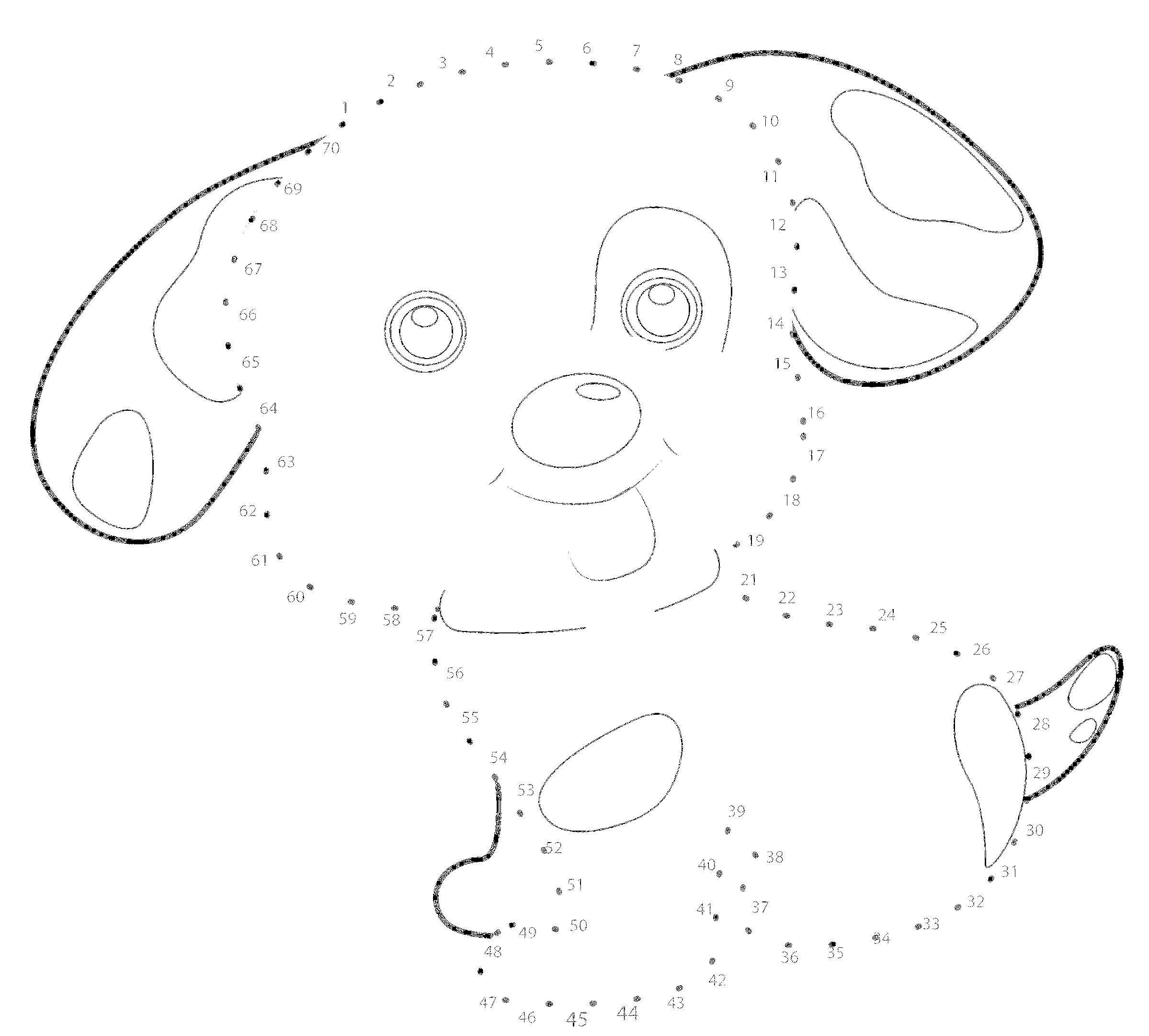 картинка по точкам собачка известно жизни творческих