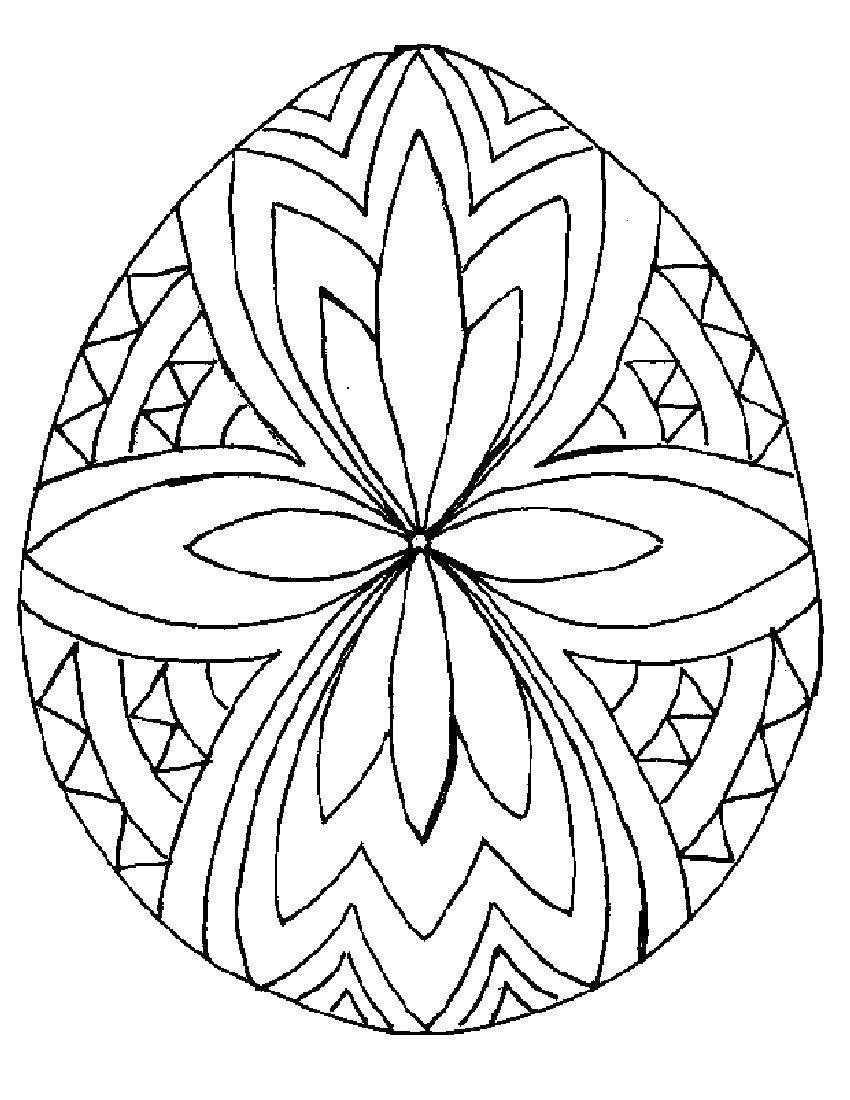 Раскраски яиц, Раскраска Контур пасхального яйца Узоры для ...