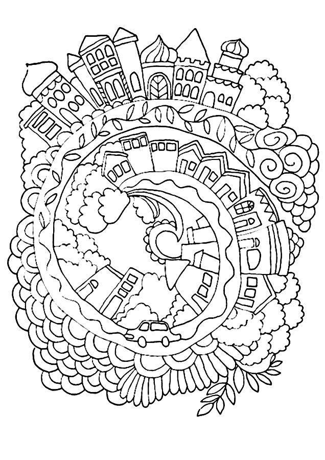 Coloring sheet coloring antistress Download skull, patterns, flowers.  Print ,Skull,