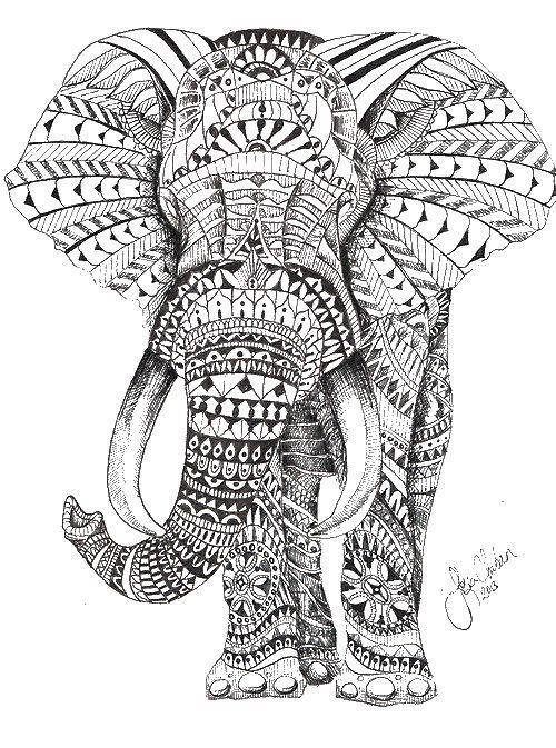 Раскраски Раскраска Антистресс слон Антистресс, скачать ...