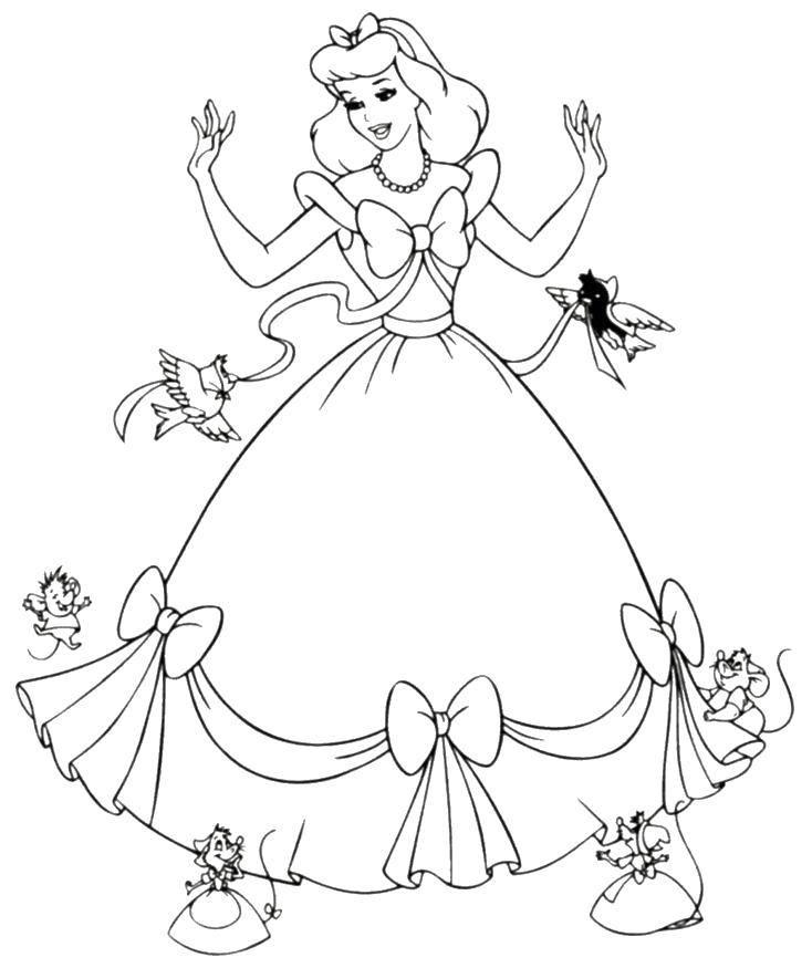 Раскраски принцесса, Раскраска Принцесса эльза Принцессы.