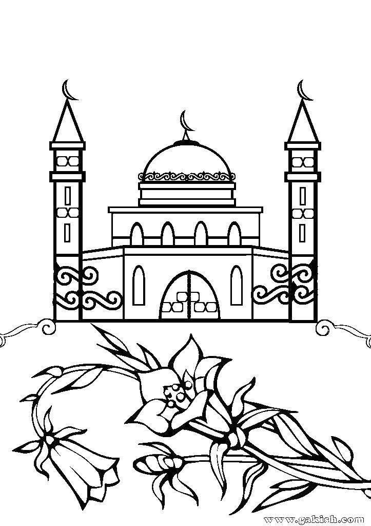 раскраска мечеть грозного удачный эскиз для