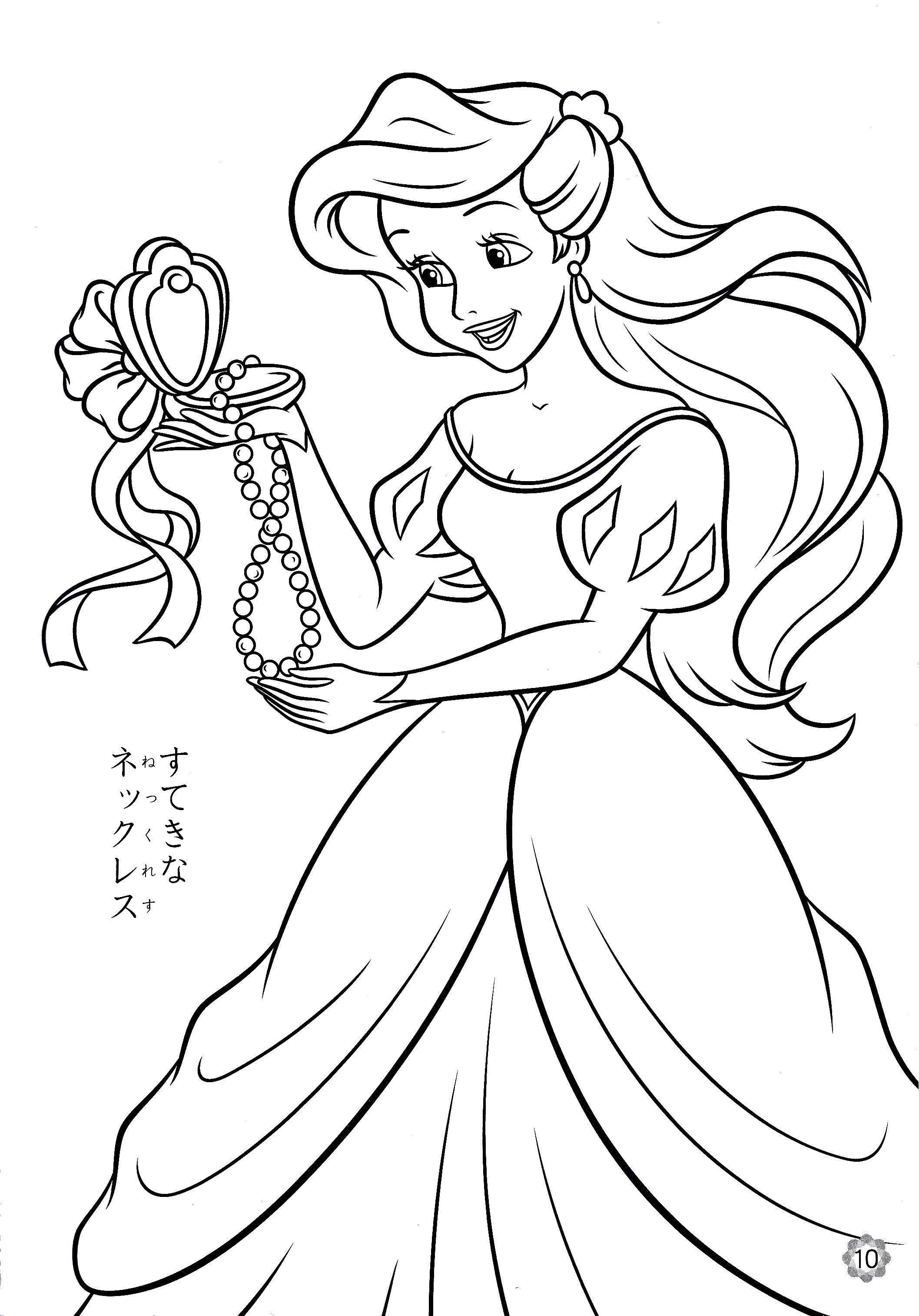 Раскраски принцессы, Раскраска Диснеевские принцессы и ...