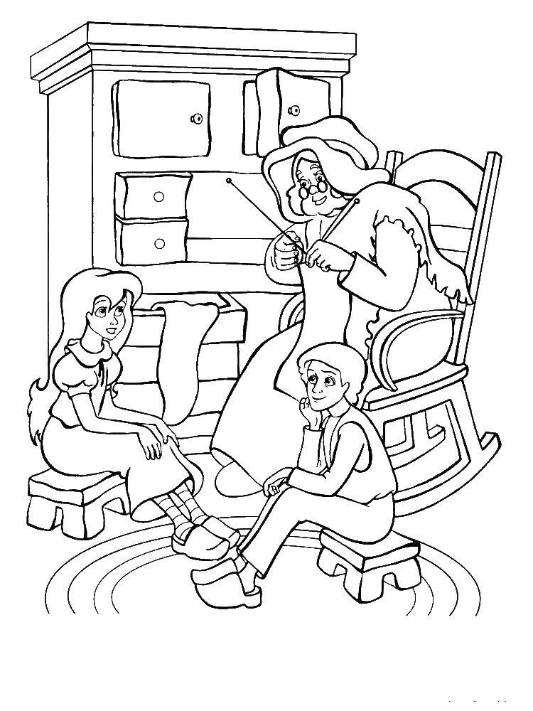 Coloring sheet cartoons Download Pirate, island, treasure, ship, parrot,.  Print
