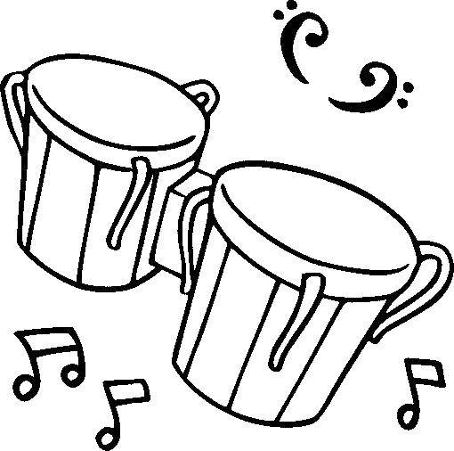 Coloring sheet musical instruments Download .  Print