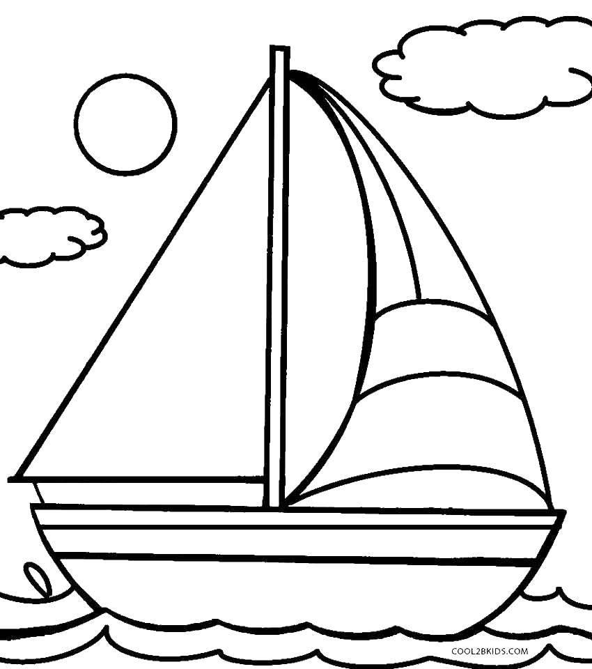 кораблик фото картинки раскраски