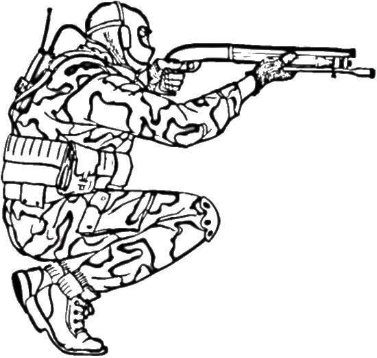 Coloring pages Soldiers Скачать .  Распечатать