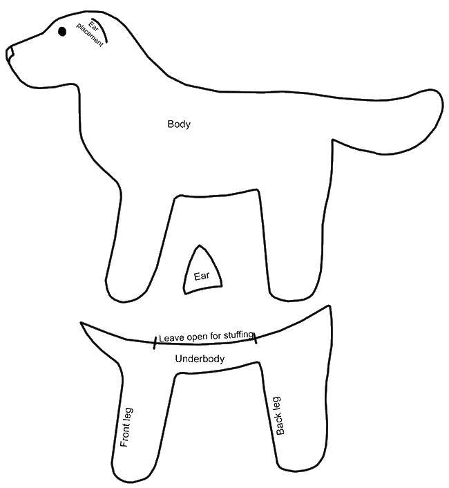 Coloring sheet the contours of the dog Download games, Tom, cat,.  Print