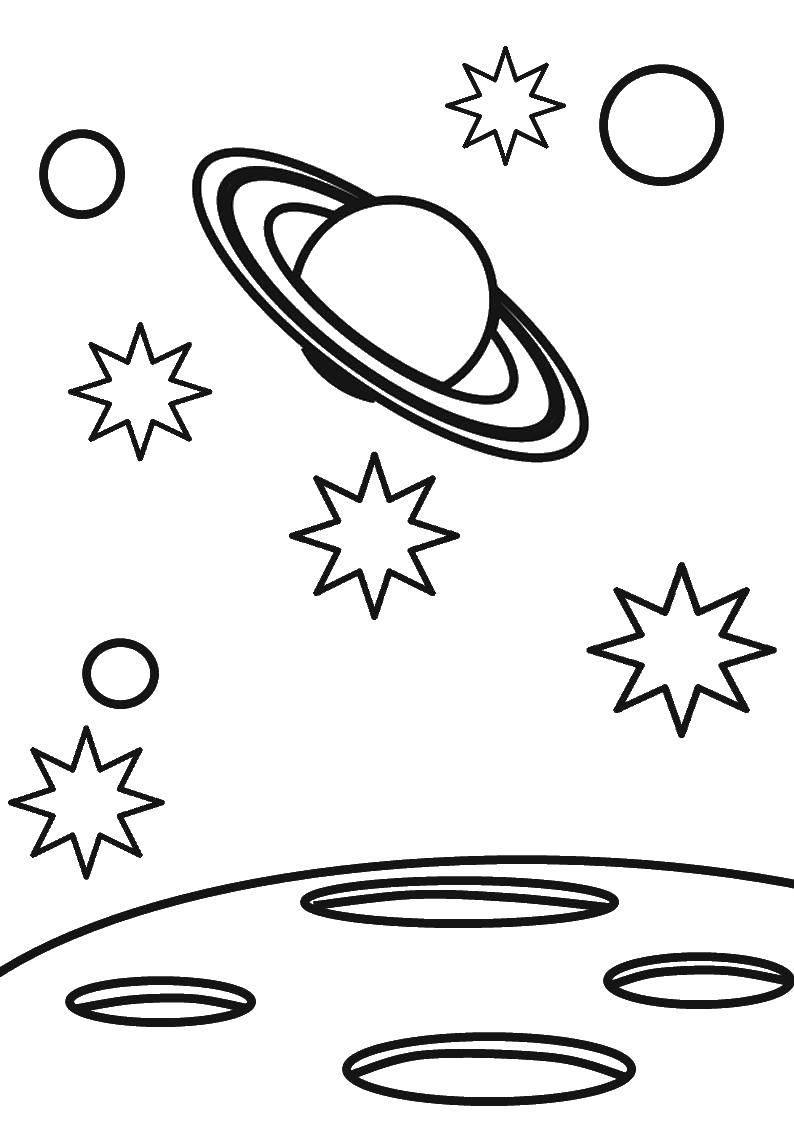 Раскраски черная, Раскраска Черная дыра космос.