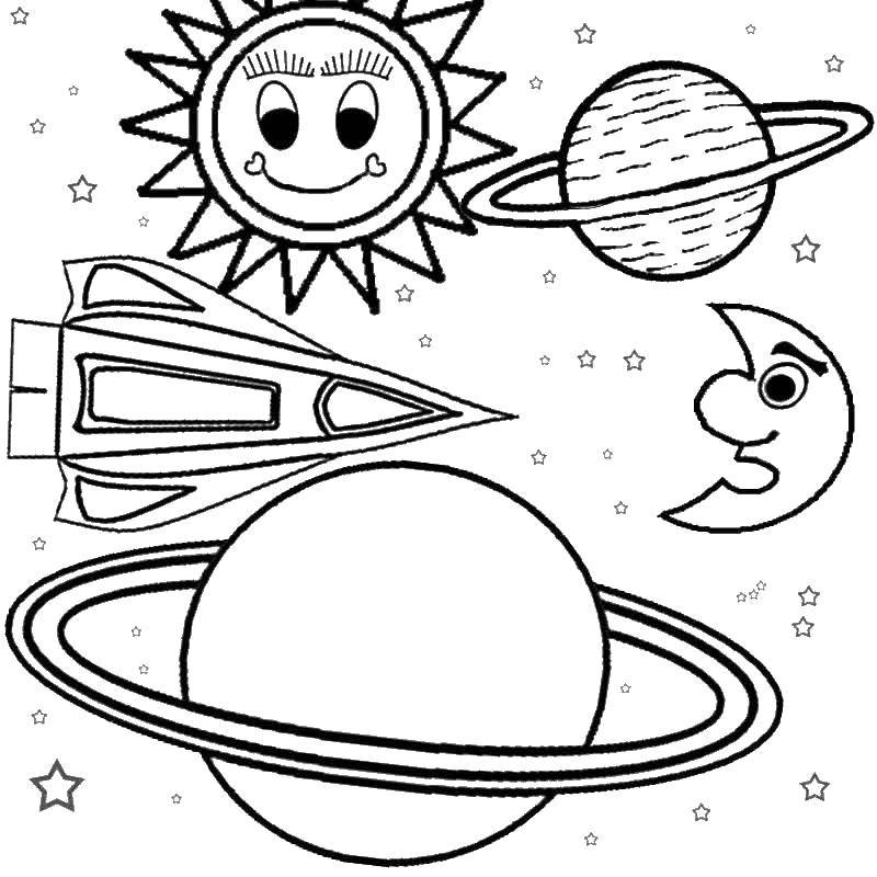 Coloring sheet Cosmonautics day Download leaves.  Print ,The contours of the leaves,