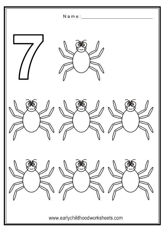 Coloring sheet Learn to count Download .  Print