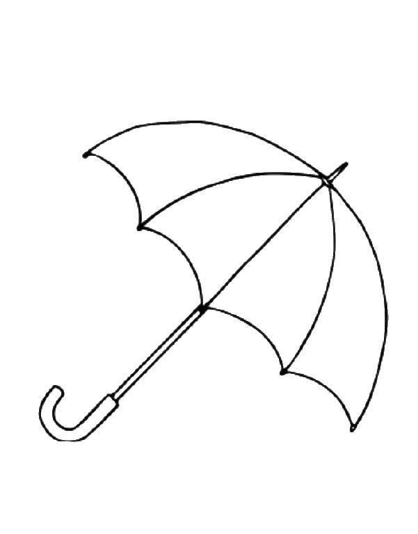 Раскраска зонт Скачать ,Зонт, дождь,.  Распечатать