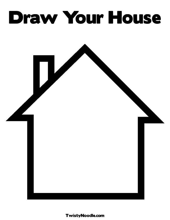 Раскраски Раскраска Домик с гаражом Раскраски дом, скачать ...